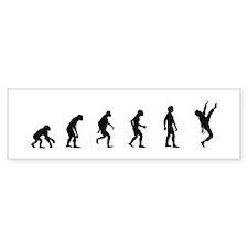 Evolution of Rock Climbing Bumper Bumper Sticker
