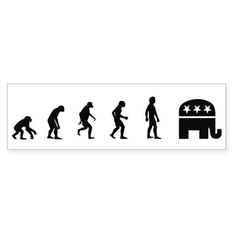Evolution of Republican Bumper Sticker