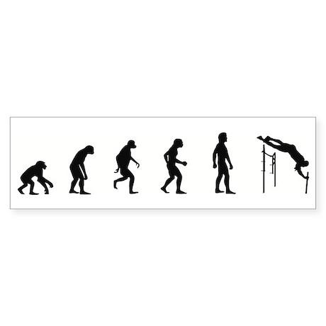 Evolution of Pole Vault Bumper Sticker