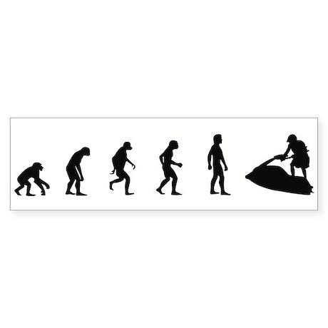 Evolution of Personal Watercr Bumper Sticker