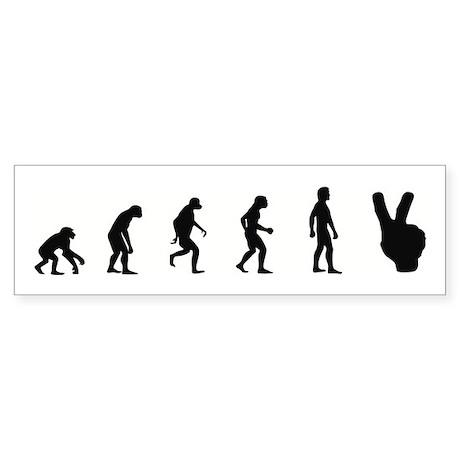 Evolution of Peace Bumper Sticker