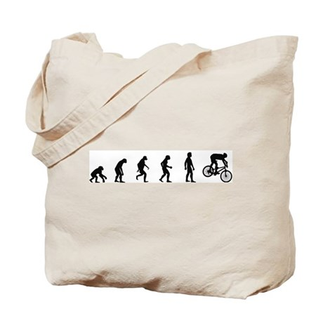 Evolution of Mountain Biking Tote Bag