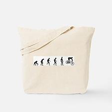 Evolution of Mountain Biking Tote Bag