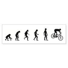 Evolution of Mountain Biking Bumper Car Sticker