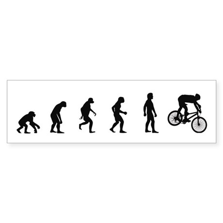 Evolution of Mountain Biking Bumper Sticker