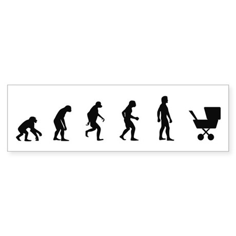 Evolution of Mother Bumper Sticker