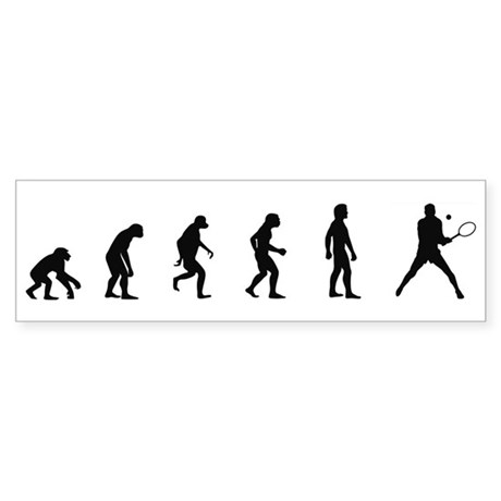 Evolution of Mens Tennis Bumper Sticker