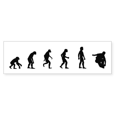 Evolution of Inline Skating Bumper Sticker