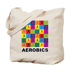 Pop Art Aerobics Tote Bag