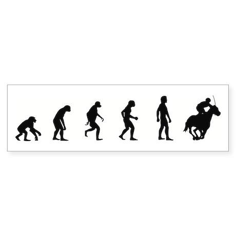 Evolution of Horse Racing Bumper Sticker