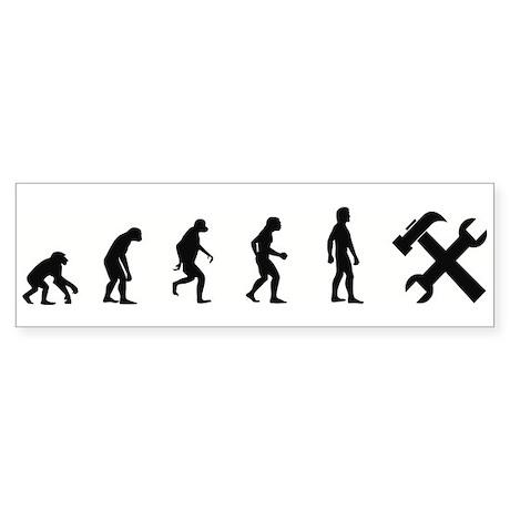 Evolution of Handyman Bumper Sticker