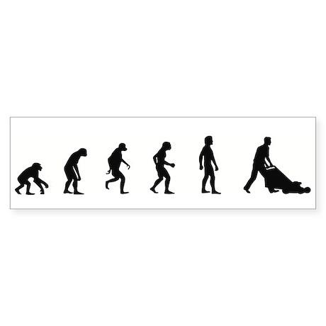 Evolution of Garden Bumper Sticker