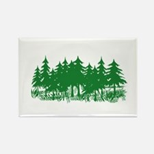 Trees Rectangle Magnet