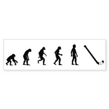 Evolution of Field Hockey Bumper Bumper Sticker