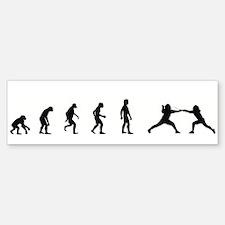 Evolution of Fencing Bumper Bumper Bumper Sticker
