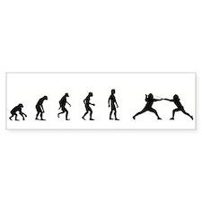Evolution of Fencing Bumper Bumper Sticker
