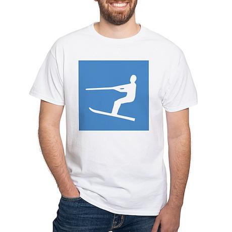 Waterskiier White T-Shirt