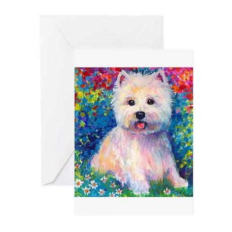 West Higland terrier 2 Greeting Cards ( 6)