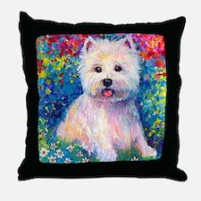 West Higland terrier 2 Throw Pillow
