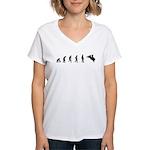 Evolution of Bullriding Women's V-Neck T-Shirt