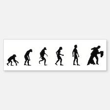 Evolution of Ballroom Dancing Bumper Bumper Bumper Sticker