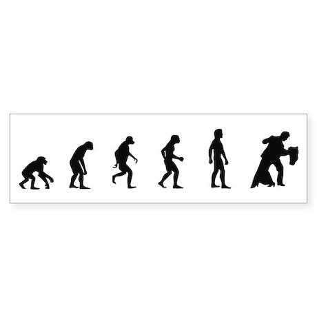 Evolution of Ballroom Dancing Bumper Sticker