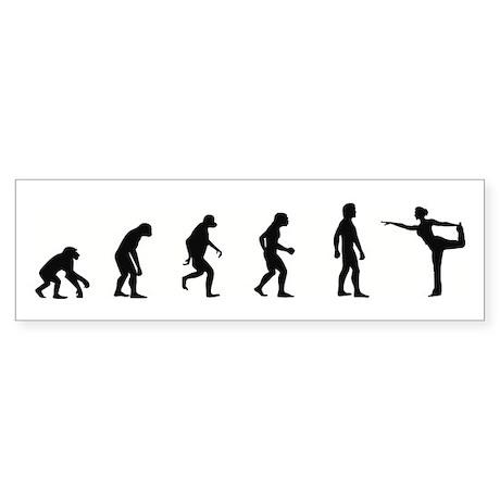 Evolution of Ballerina Bumper Sticker