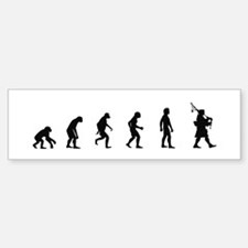 Evolution of Bagpipes Bumper Bumper Bumper Sticker