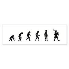 Evolution of Bagpipes Bumper Bumper Sticker