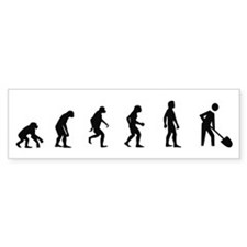 Evolution of Archaeology Bumper Bumper Sticker