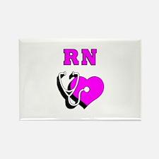 RN Nurses Care Rectangle Magnet (10 pack)