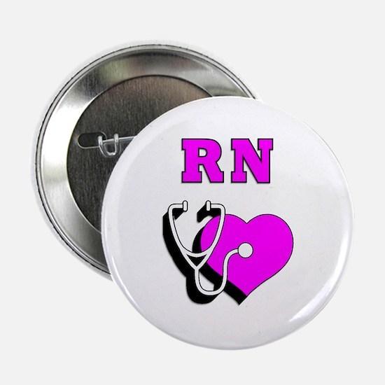 """RN Nurses Care 2.25"""" Button"""