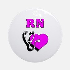 RN Nurses Care Ornament (Round)