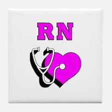 RN Nurses Care Tile Coaster