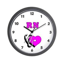 RN Nurses Care Wall Clock