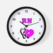 RN Nurses Care Wall Clock