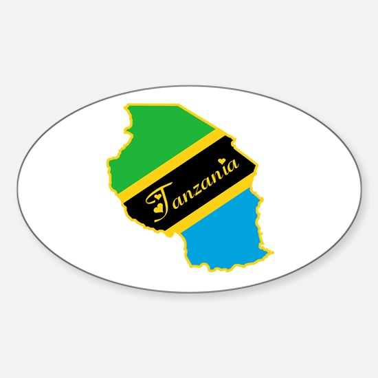 Cool Tanzania Oval Decal