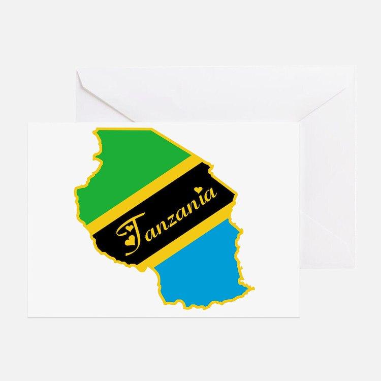 Cool Tanzania Greeting Card