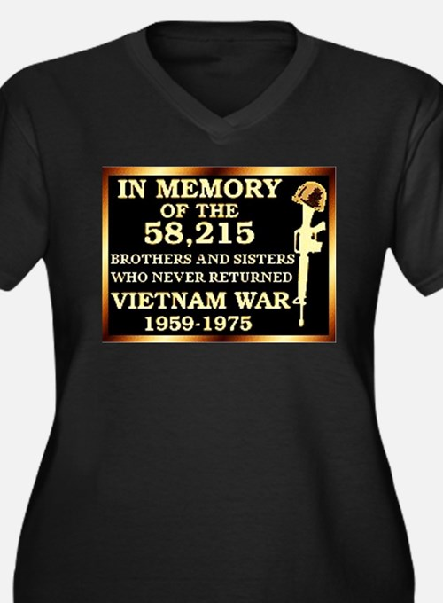 in memory. Plus Size T-Shirt