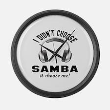 I didn't choose Samba dance Large Wall Clock