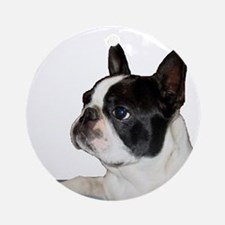 Boston Terrier - Pleading Eye Ornament (Round)