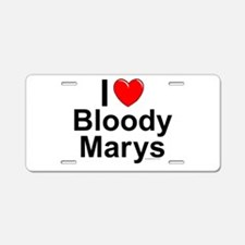 Bloody Marys Aluminum License Plate
