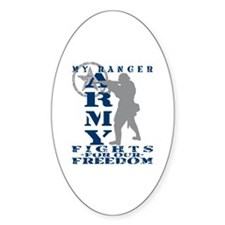 Ranger Fights Freedom - ARMY Oval Decal