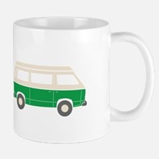 VW T25 Campervan - sideview, green Mugs
