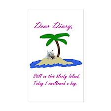 Dear Diary Rectangle Decal