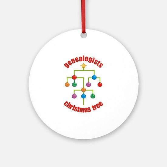 Genealogists Christmas Tree Ornament (Round)