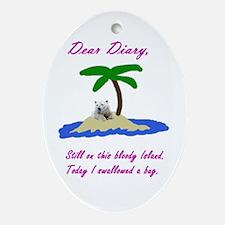 Dear Diary Oval Ornament