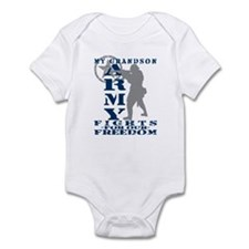 Grndson Fights Freedom - ARMY  Infant Bodysuit