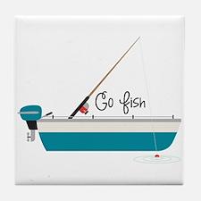 Go Fish Tile Coaster
