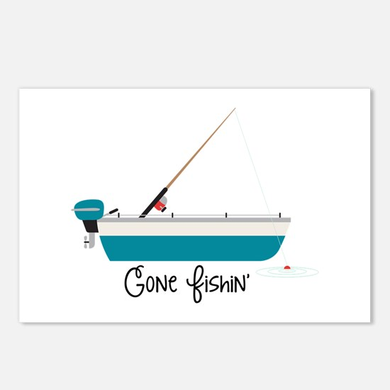Gone Fishin Postcards (Package of 8)